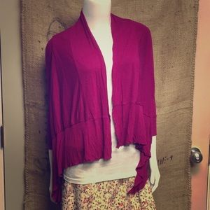 🌸#3667 A.N.A. Pink Open Cardigan